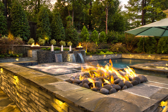 Collierville Modern Geometric Pool, Spa, & Outdoor Living ... on Outdoor Living Spa  id=22270