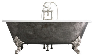"The Chesterton 73"" Long Double Ended Cast Iron Tub With Drain"