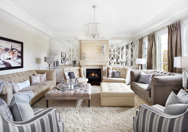 Classic Luxurious Neutral Cream And Grey Living Room Transitional Living Room Toronto By Royal Interior Design Ltd Houzz Uk