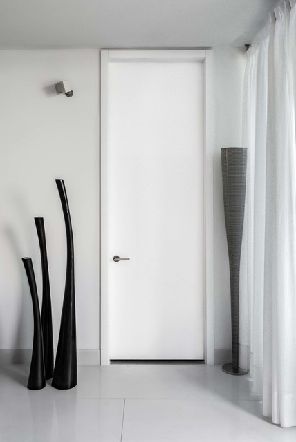 tall white modern bedroom door - modern - entry - miami - by