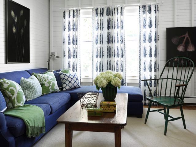 Turn of the Century Cottage beach-style-living-room