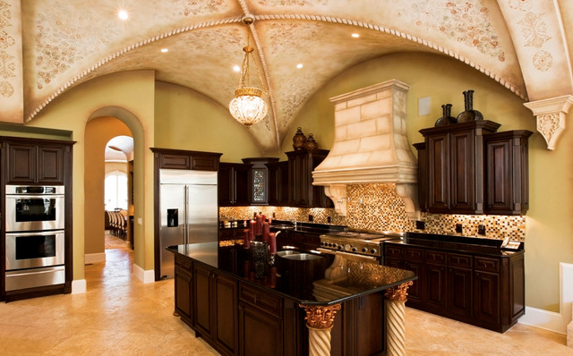 Black Galaxy Granite Countertops - Traditional - Kitchen ... on Black Granite Countertops  id=15511