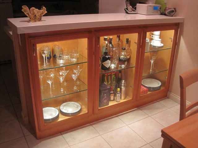 Adding Display Cabinets In Kitchendining Area