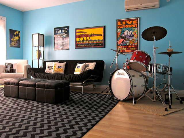 Use these games to pass the time, allev. Teen Game Room - Contemporary - Kids - Los Angeles - by ...