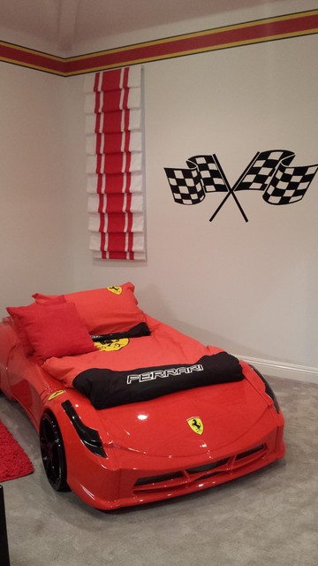 Ferrari Race Car Bedroom Transitional Kids Los Angeles