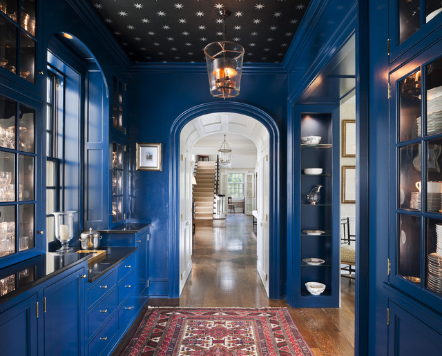 Villanova Residence - butler's pantry traditional-hall