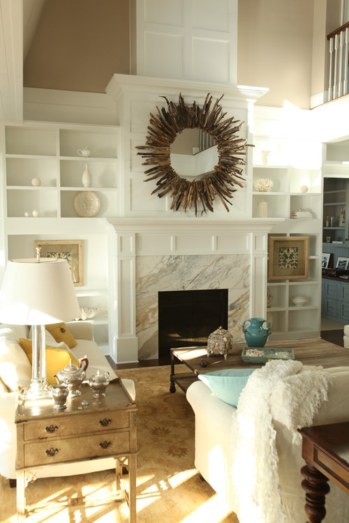 Transitional Living Room by Tacoma Kitchen & Bath Designers Signature Design & Cabinetry LLC