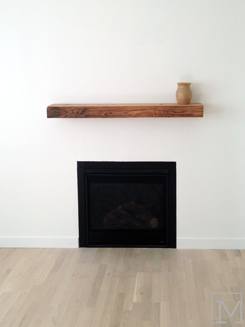 Minimalist Fireplace Farmhouse Living Room Orange County By Moss Yaw Design Studio