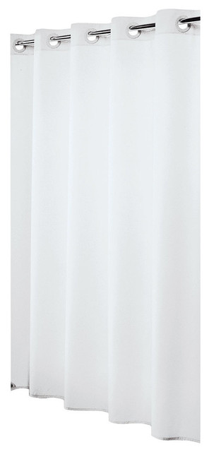 extra long hookless shower curtain 72 x78 sealskin coloris white