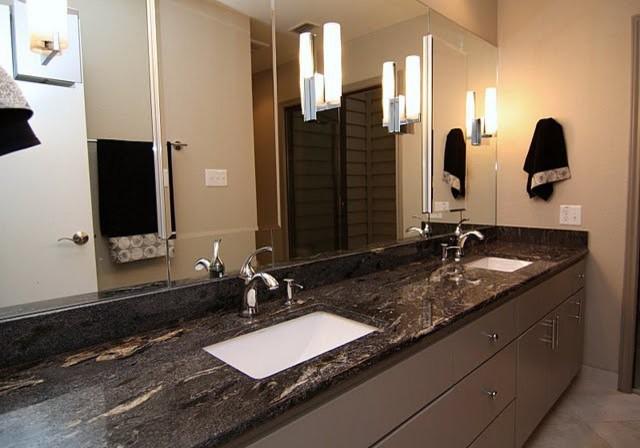 Viking Black Granite Countertop - Contemporary - Bathroom ... on Black Granite Countertops  id=85931