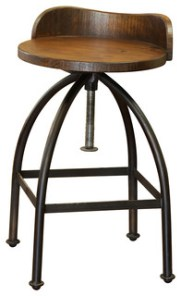 Ashland Low-Back Adjustable Height Bar Stool