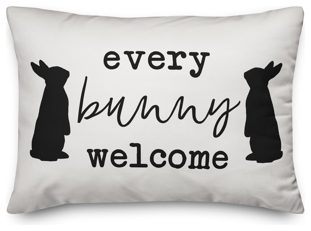 every bunny welcome 14x20 lumbar pillow cover