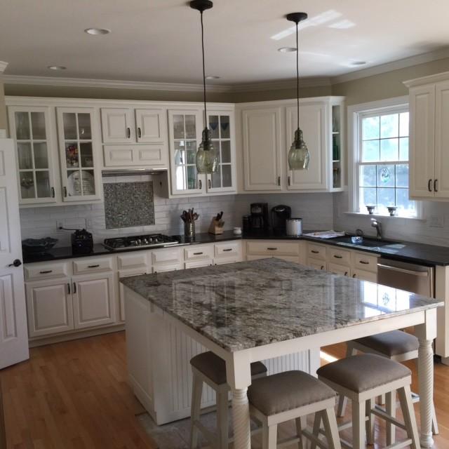 Blue Dunes Granite Countertop - Farmhouse - Kitchen ... on Farmhouse Countertops  id=13882