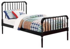 Jenny Lind Twin Size Bed, Black
