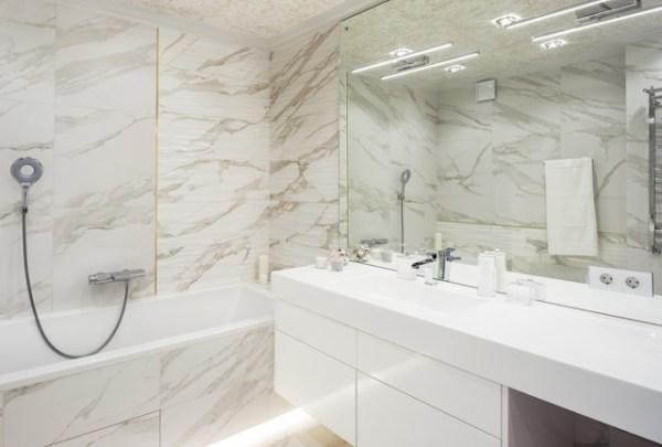 Новая квартира в панельном доме - Современный - Ванная ...