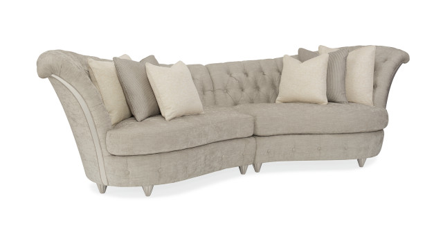 chenille curved sectional