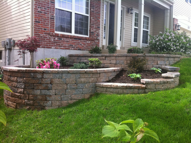 Multi-tiered Retaining Wall - Traditional - Garden - St ... on Tiered Yard Ideas  id=93171