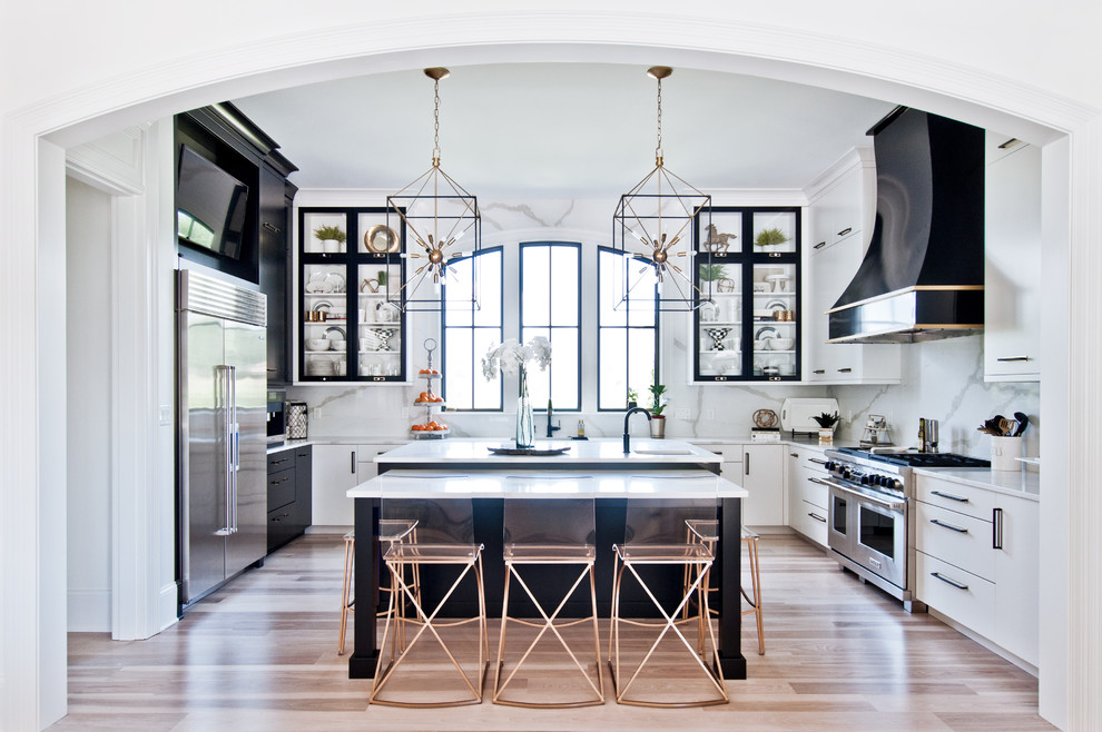 Black And White Beauty Transitional Kitchen Nashville By Victoria Highfill