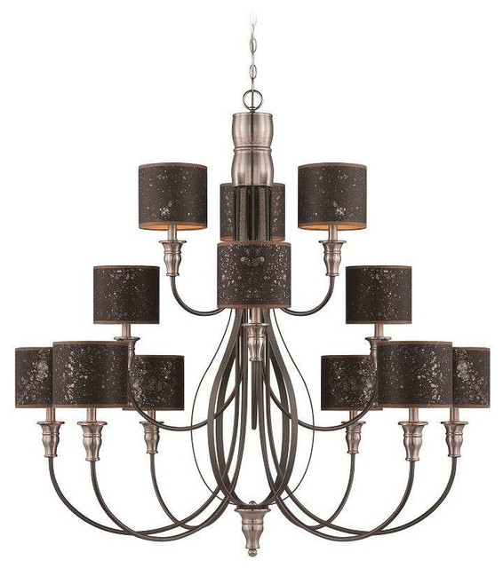 Jeremiah Lighting 28112 Hibnk Preston Hollow Chandelier Iron Brushed Nickel Traditional Chandeliers