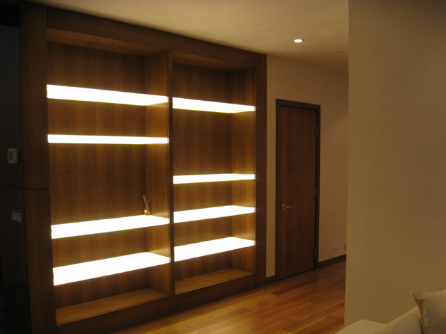 Modern Built-in - Modern - Family Room - Denver - by 186 ... on Shelf Sconces For Living Rooms Contemporary id=57460