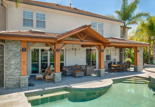 Luxury outdoor patio cover - Craftsman - Patio - Los ... on Patio Cover Ideas For Winter id=37285
