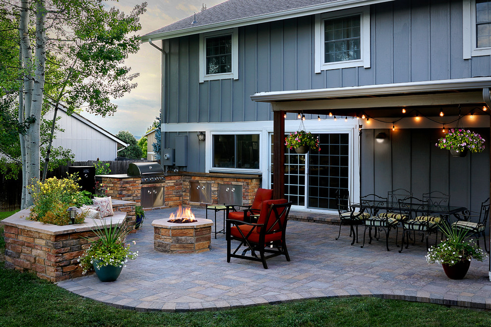 Cool Patio with Fire Pit and Roof Cover - Traditional ... on Fire Pit Inspiration  id=68916