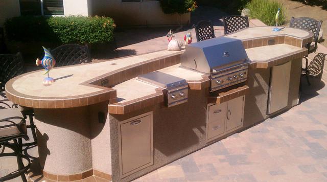 Backyard BBQ Island - Contemporary - Outdoor Grills - los ... on Backyard Patio Grill Island id=68151