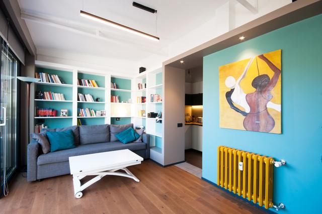 Librerie moderne per il soggiorno: 8 Idee Per Mensole In Cartongesso