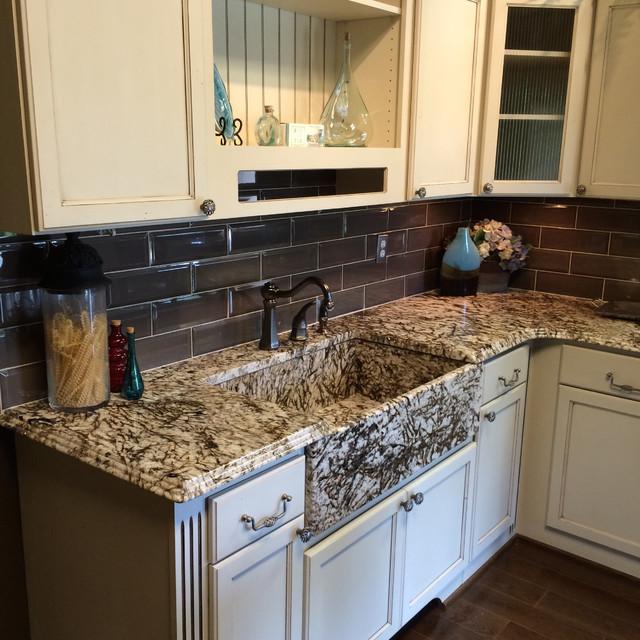 White Tiger Farmhouse Kitchen - Farmhouse - Kitchen ... on Farmhouse Kitchen Farmhouse Granite Countertops  id=27327