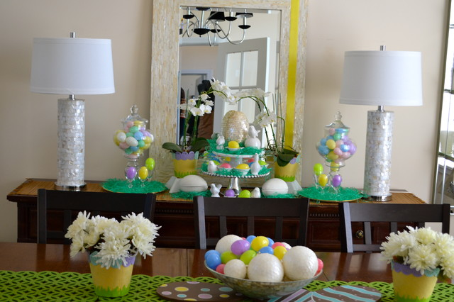 Easter Decor Traditional Dining Room St Louis