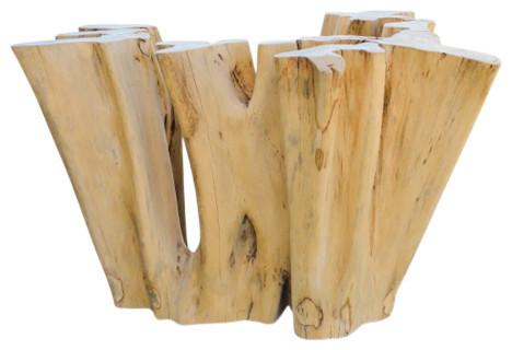 ficus wood coffee table base