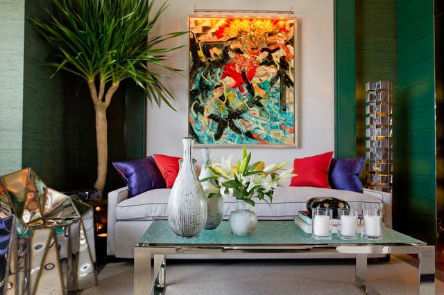 Library: Jamie Drake/ Drake Design Associates contemporary-family-room
