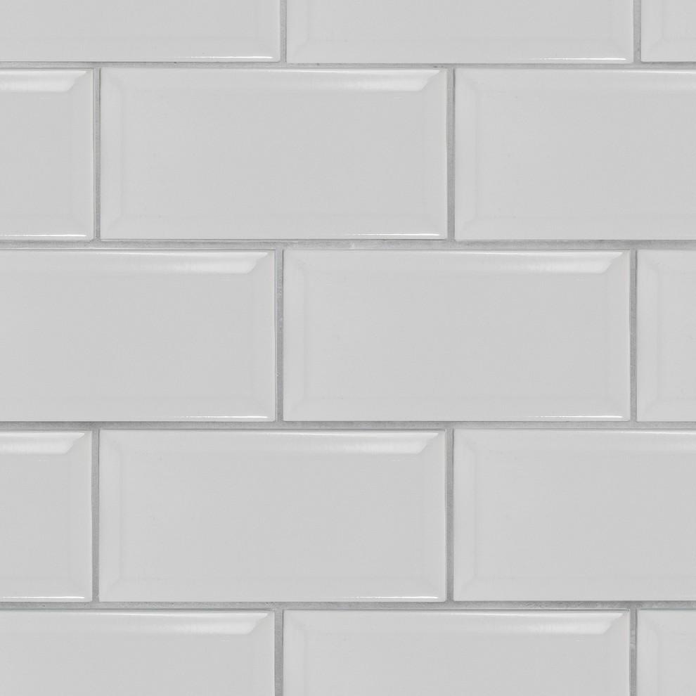 crackle 4x8 white subway tile beveled box of 11 1 sq ft