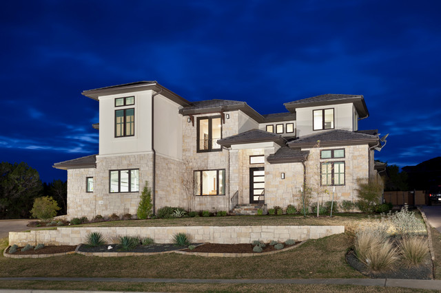Clean Modern Transitional Modern Exterior Austin By Travis Creek Homes LLC