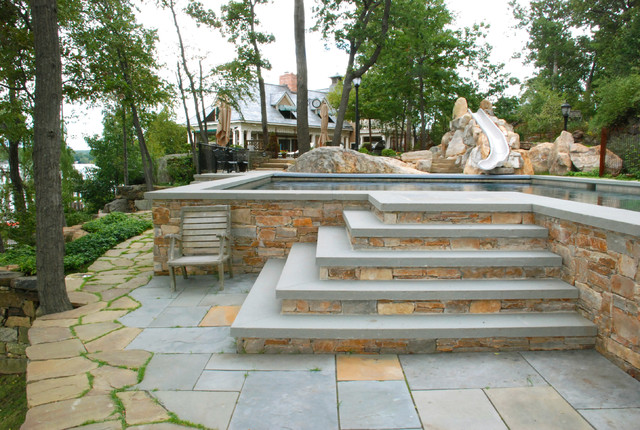 Outdoor Steps and Patios - Craftsman - Patio - New York ... on Backyard Patio Steps id=43017