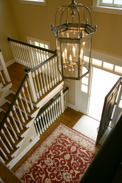 New Old Farmhouse Stairwell And Front Entry