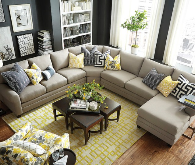 Hgtv Home Design Studio Cu  U Shaped Sectional By Bassett Furniture Contemporary Living
