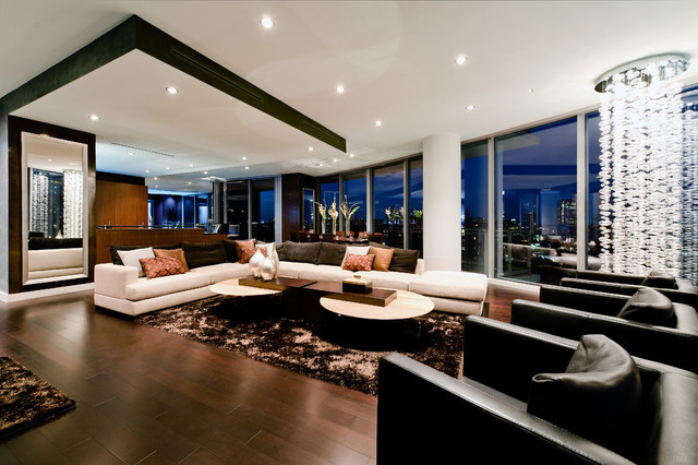 Stone Residence Contemporary Living Room Dallas By