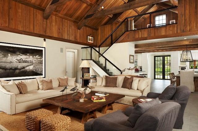 Rustic Modern Cabin - Rustic - Family Room - Atlanta - by ...
