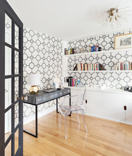 Youthful + Elegant contemporary-home-office