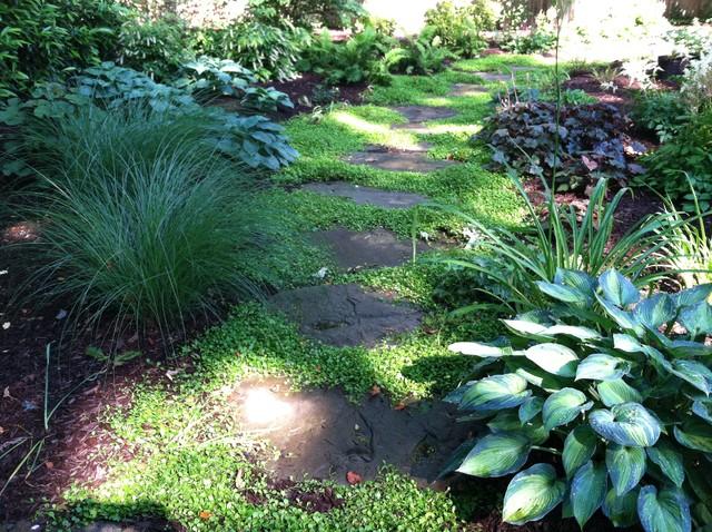 Small Shady Backyard - Traditional - Landscape - New York ... on Shady Yard Ideas id=37097