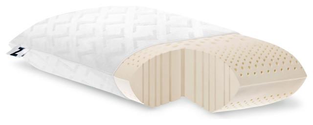 high loft firm latex pillow by malouf fine linens