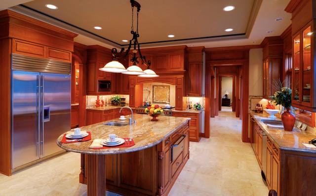 Colonial Cream Granite Countertops Traditional Kitchen