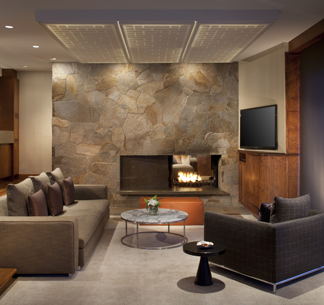 Slope Style Condo - Contemporary - Living Room - other ...
