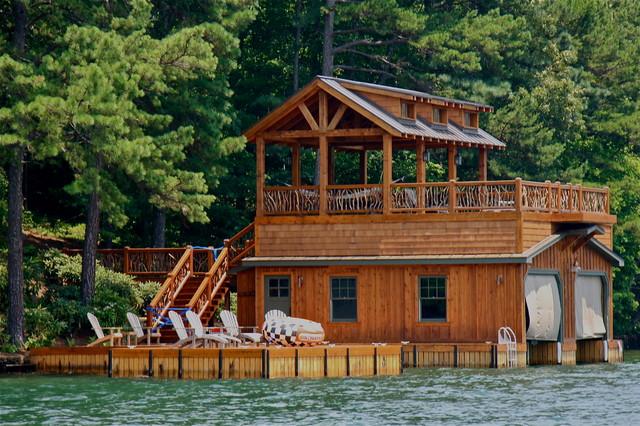 Lake Burton Boat Houses Traditional Shed Atlanta