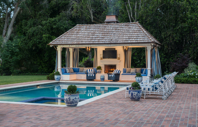 Outdoor Pool Cabana - Traditional - Pool - San Francisco ... on Cabana Designs Ideas id=36718