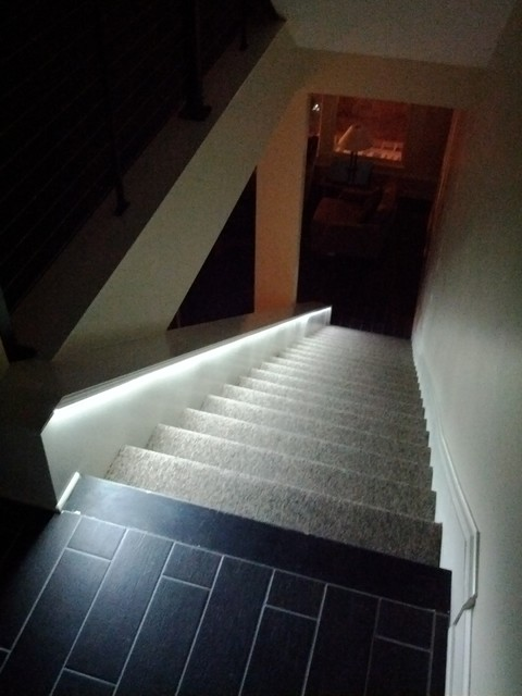 LED Lighting For Stairs Contemporary Staircase Indianapolis By Lumen Cache Inc