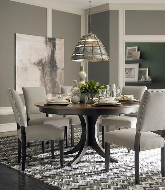 Custom Dining 60 Round Pedestal Table By Bassett