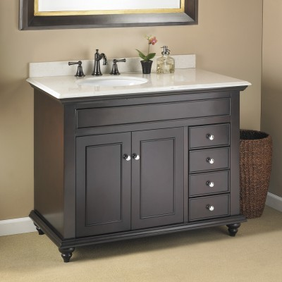 "trying to find the impossible: 42"" bathroom vanity with an offset sink"