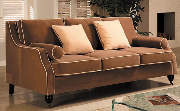 Carolyn Sofa With Contrast Piping Traditional Sofas By